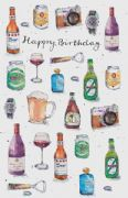 Beer & Wine Birthday Card